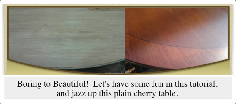 Cherry table before & after