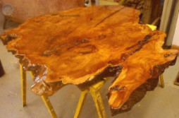 Making A Coffee Table From A Wood Slab : Tutorial