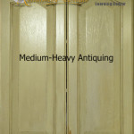 Antiqued Painted Finish For Kitchen Cabinets Or Furniture: Tutorial