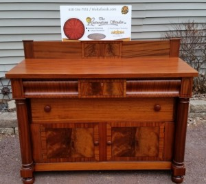 natural mahogany sideboard
