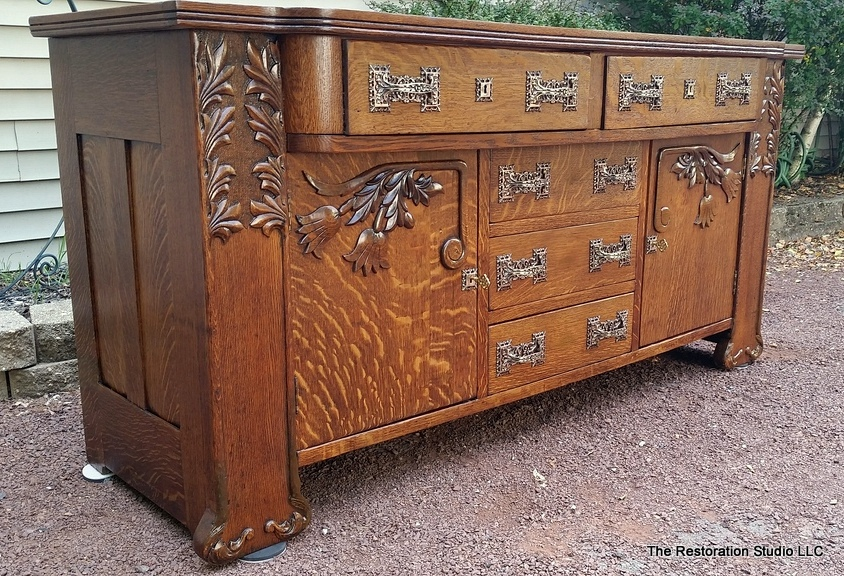 Sideboard Restoration After