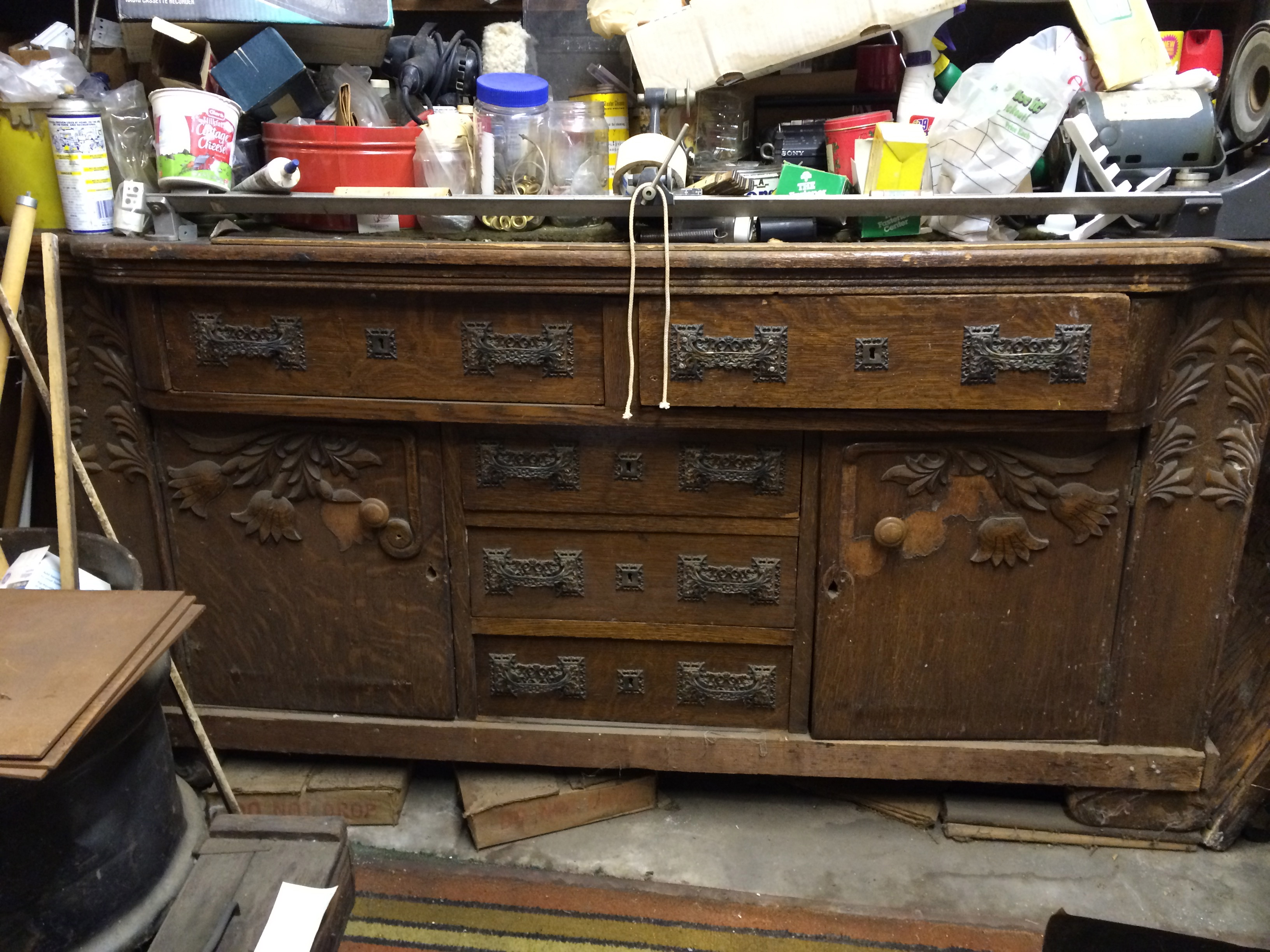 Sideboard Restoration Before