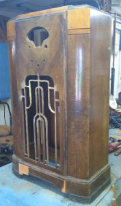 Radio Cabinet Refinishing