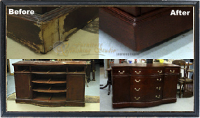 Veneer Repair on a Mahogany Buffet : Tutorial