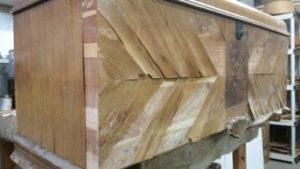 Cedar Chest Veneer Repair and Refinishing