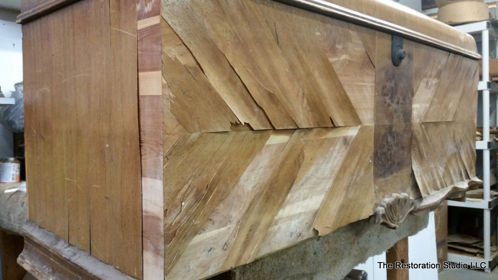 How To Replace Wood Veneer On Furniture, How To Fix Veneer On Antique Furniture